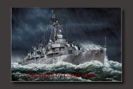 Bundesmarine German Navy american navy atlantic fleet storm painting