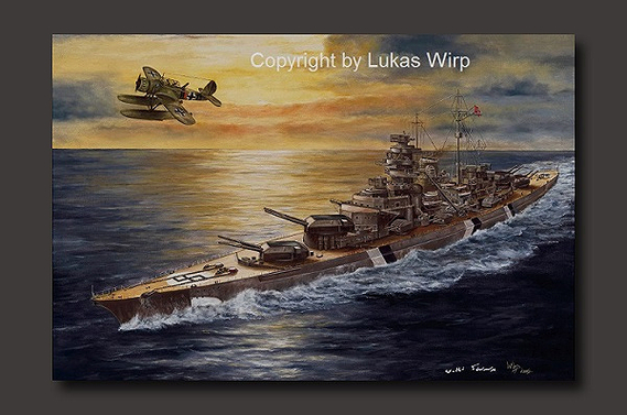 Schlachtschiff Deutsche Marine german navy Hood Lukas Wirp artist