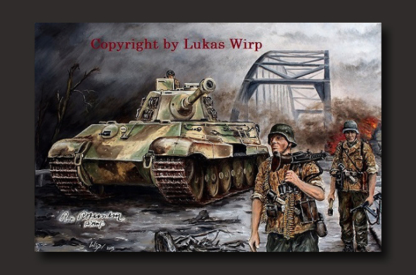 Waffen SS, tank division, combat, grenadiers, Lukas Wirp, artist, Poster