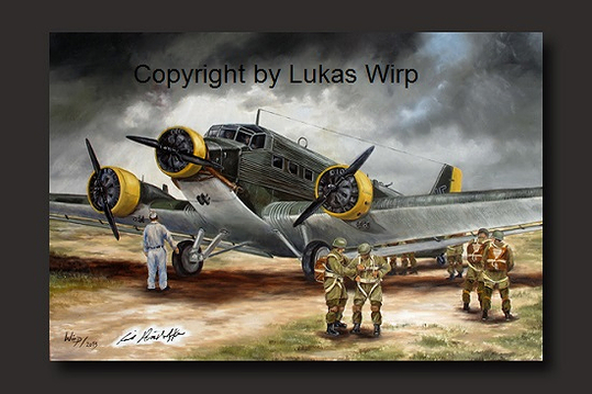German Junkers, JU 52, Paratroopers, WW2, Knight cross, Lukas Wirp