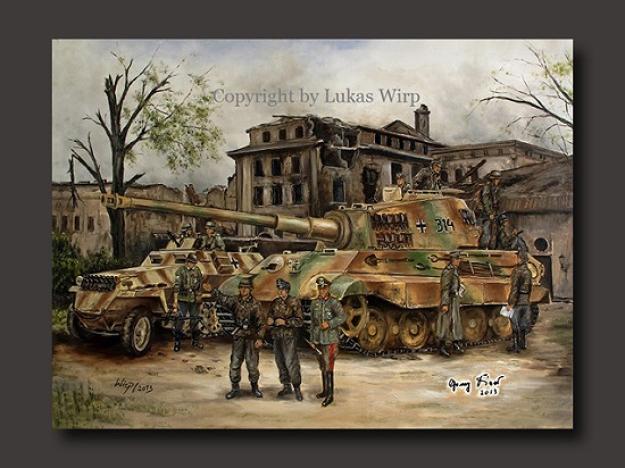 Leibstandarte AH Panzer Tiger II German Army Berlin 1945