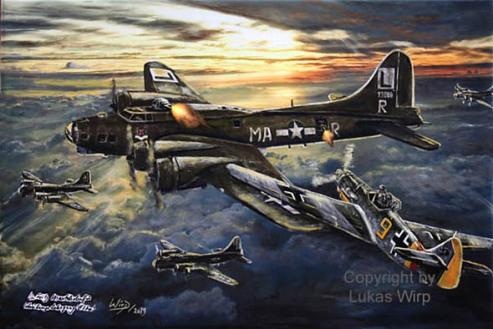 Us Air force Messerschmitt BF 109 flying fortress
