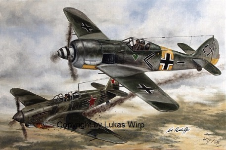 FW 190 WW 2 Air force combat aircaft dog fight russian front