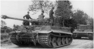 Tiger tank, battle, villers bocage, Michael Wittmann, poster, art print