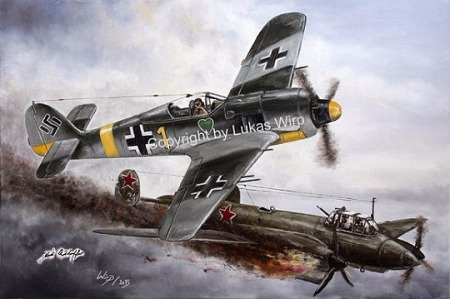 German, air force, picture, military, painting, artist, Lukas wirp