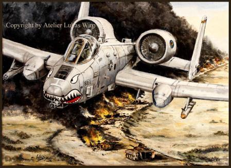 Dessert Storm Gul war, A10 Thunderbolt battle