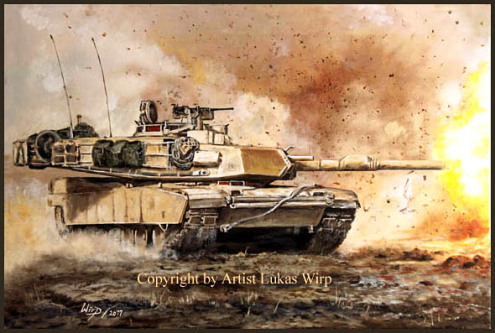 tank pictures US Army painting Lukas Wirp