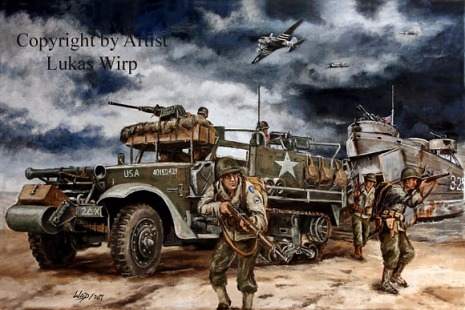 Half Truck US Army pictures WW2 Lukas Wirp art