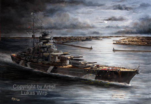 Painting, Bismarck, Lukas Wirp, world war 2