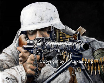 German, soldier, Wehrmacht, painting