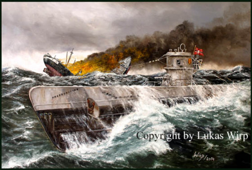 Navy, paintings, World war 2, WW2