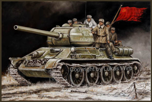 russian, army, tanks,battle, paintings