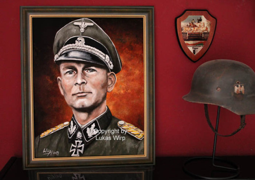 waffen SS, soldier, Knight Cross, painting