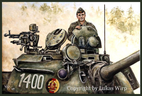 russian, tank, pictures, paintings, DDR