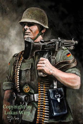MG Gunner, portrait