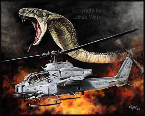 Dessert Storm Cobra Bell AH- 1W Marines