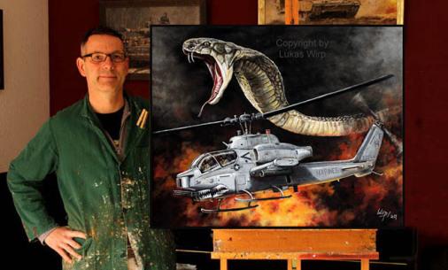 US Marine attack hellicopter cobra